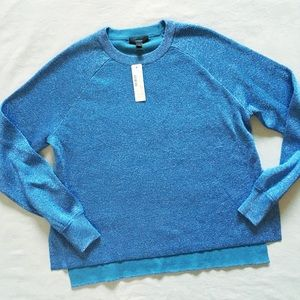 NWT j.crew sparkle side slit sweater in blue